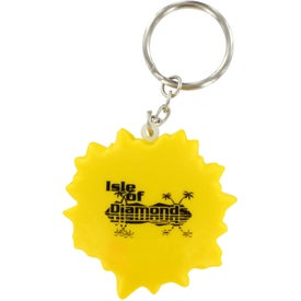 Advertising Cool Sun Key Chain Stress Ball