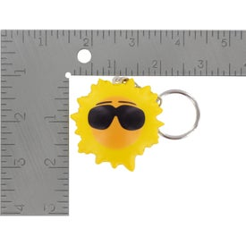 Cool Sun Key Chain Stress Ball Branded with Your Logo