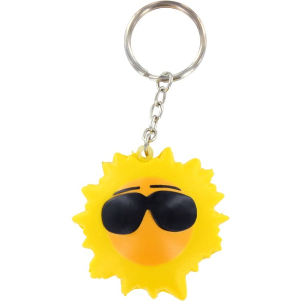 Cool Sun Key Chain Stress Ball