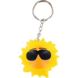 Customized Cool Sun Key Chain Stress Ball