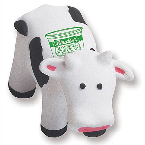 White / Black Cow Stressball