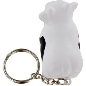 Cow Stress Ball Key Chain with Your Slogan