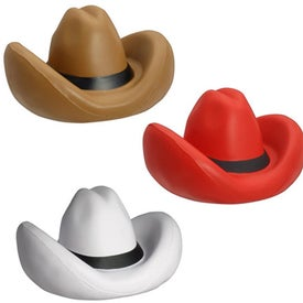 "Cowboy Hat Stress Ball (2.5"" x 3.25"" x 2"")"