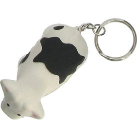 Promotional Cow Stress Ball Key Chain