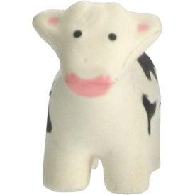 Printed Cow Stress Ball Key Chain