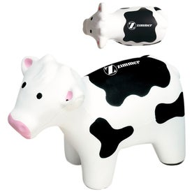 Cow Stress Reliever With Black Spots with Your Slogan
