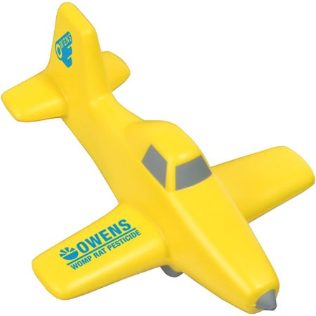 Yellow Crop Duster Plane Stress Ball