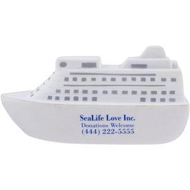 Imprinted Cruise Ship Stress Ball