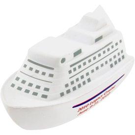Advertising Cruise Ship Stress Toy