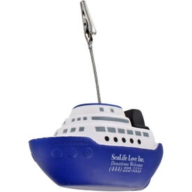 Printed Cruise Boat Stress Ball Memo Holder