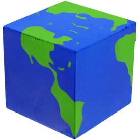 Personalized Cube Earth Stress Toy