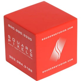 Cube Stress Ball Branded with Your Logo