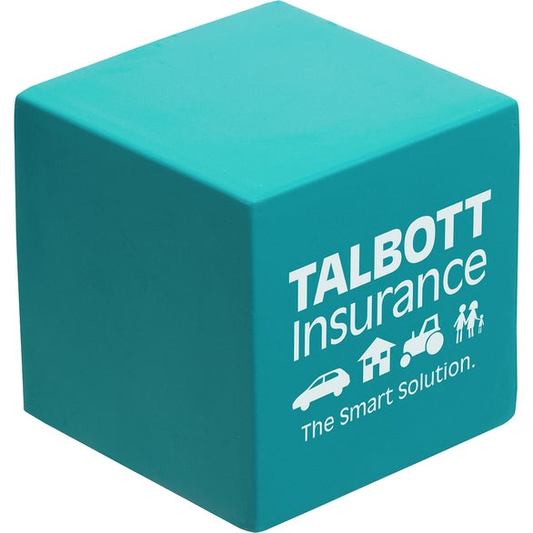 Teal Cube Stress Ball