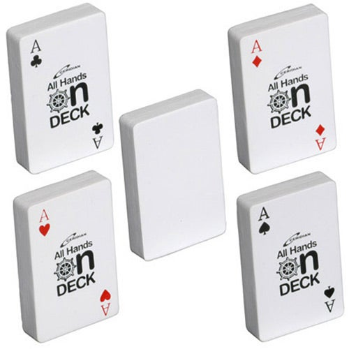 White Deck of Cards Stress Ball