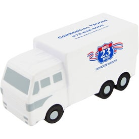 Printed Custom Delivery Truck Stress Toy