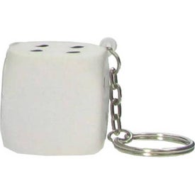 Dice Key Chain Stress Ball for Advertising