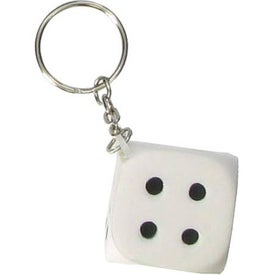 Dice Key Chain Stress Ball with Your Slogan