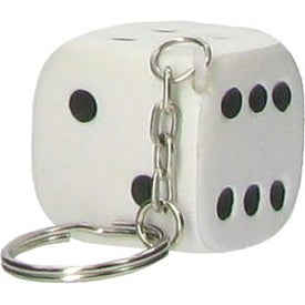 Dice Key Chain Stress Ball