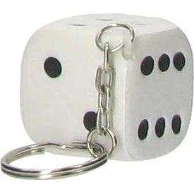 Dice Key Chain Stress Ball