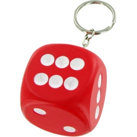 Monogrammed Dice Keychain Stress Toy