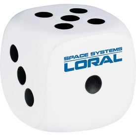 Dice Stress Squeeze Ball for Advertising