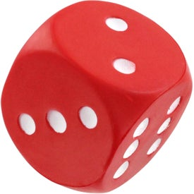 Dice Stress Reliever with Your Slogan