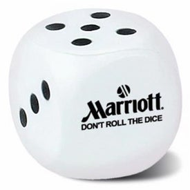 Dice Stress Ball (White)