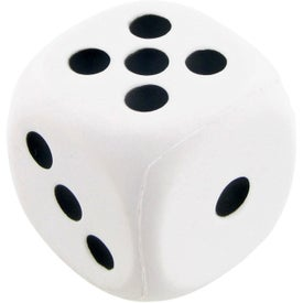 Dice Stress Ball with Your Slogan