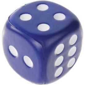 Branded Dice Stress Ball
