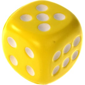 Dice Stress Ball Branded with Your Logo