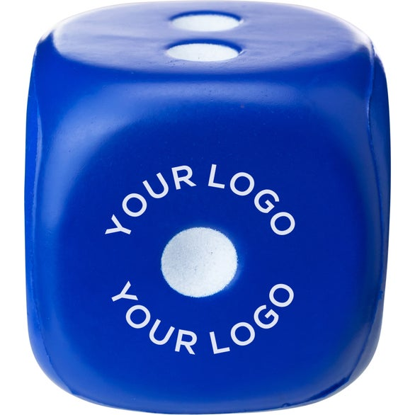 Blue Dice Stress Ball