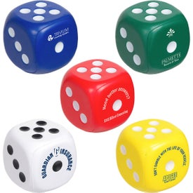 Dice Stress Balls (Colors)