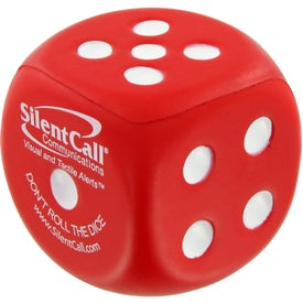 Monogrammed Dice Stress Toy