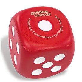 Dice Stress Squeeze Printed with Your Logo
