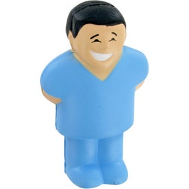 Doctor With Scrubs Stress Toy Imprinted with Your Logo