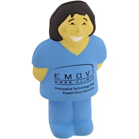 Logo Doctor With Scrubs Stress Toy