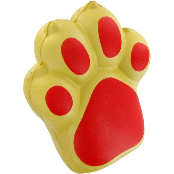 Tan / Red Dog Paw Stress Toy