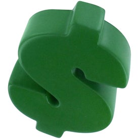 Dollar Sign Stress Reliever with Your Slogan