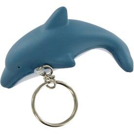 Customized Dolphin Keychain Stress Toy