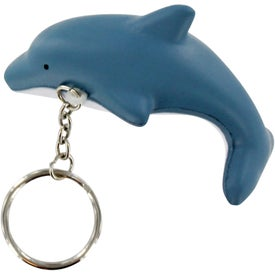 Dolphin Key Chain Stress Ball for Promotion