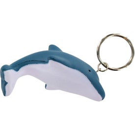 Dolphin Key Chain Stress Ball for Your Company