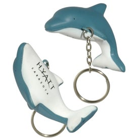 Dolphin Key Chain Stress Ball