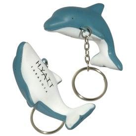 Dolphin Key Chain Stress Ball