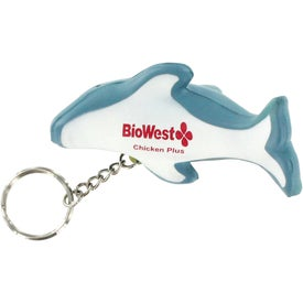 Custom Dolphin Key Tag Stress Reliever