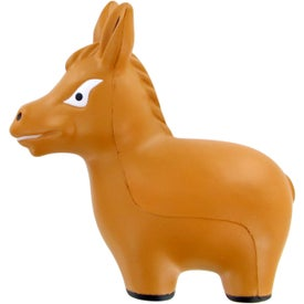 Monogrammed Donkey Stress Toy