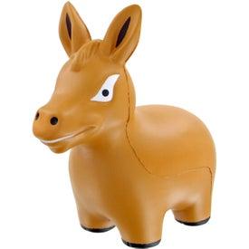 Imprinted Donkey Stress Toy