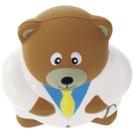 Physician Bear Stress Ball Imprinted with Your Logo