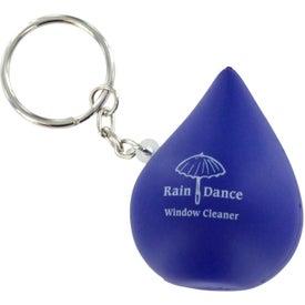 Droplet Keychain Stress Ball for Customization