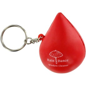 Droplet Keychain Stress Ball with Your Logo