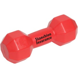 Dumbbell Stress Ball with Your Logo